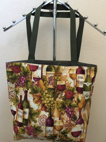 Kaufman Vineyard Collection Wine Bottles & Glasses Tote Bag