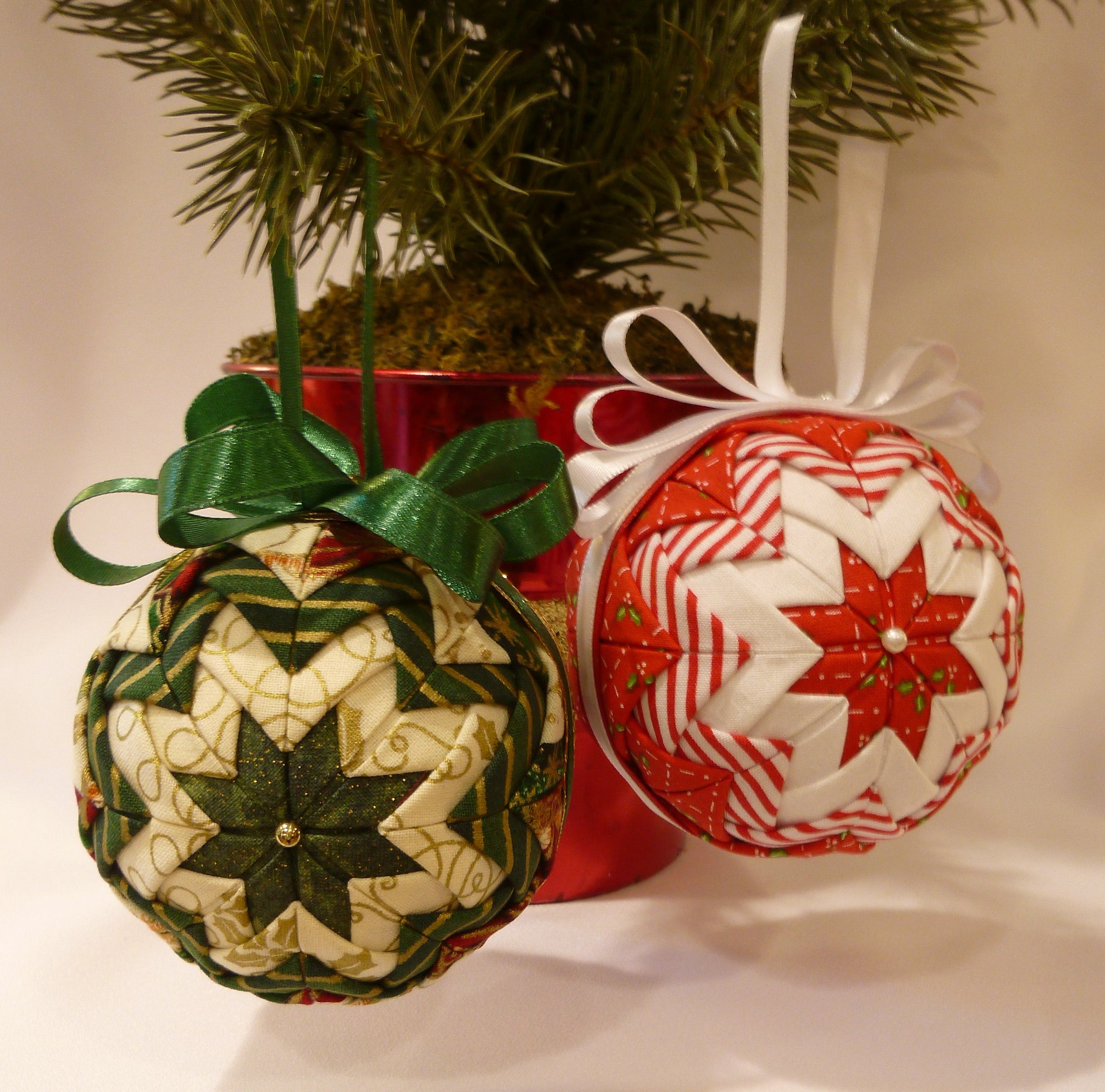 Large Holiday Fabric Ornaments