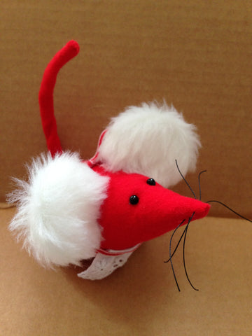 Mrs Claus Hand Sewn Mouse