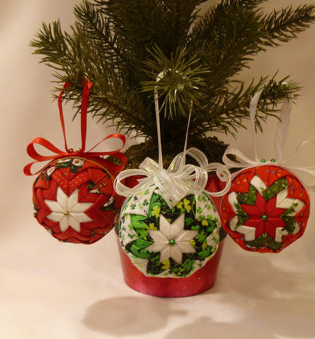 Holiday Fabric Ornaments - Series 3