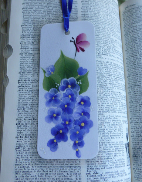 Hand Painted Bookmarks Flowers - Series 1