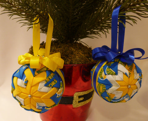 San Francisco Warriors Fabric Ornaments