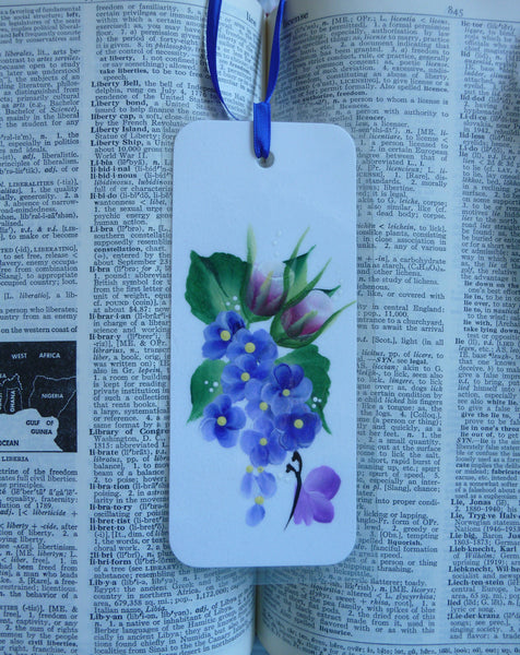 Hand Painted Bookmark Flowers - Series 3