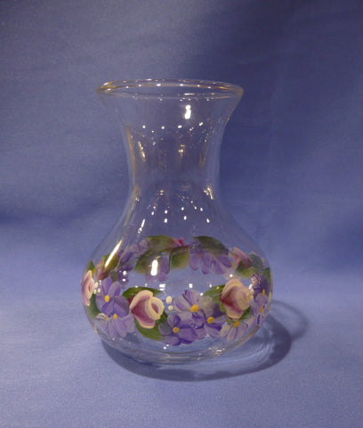 Hand Painted Small Vase with Bulb Vase