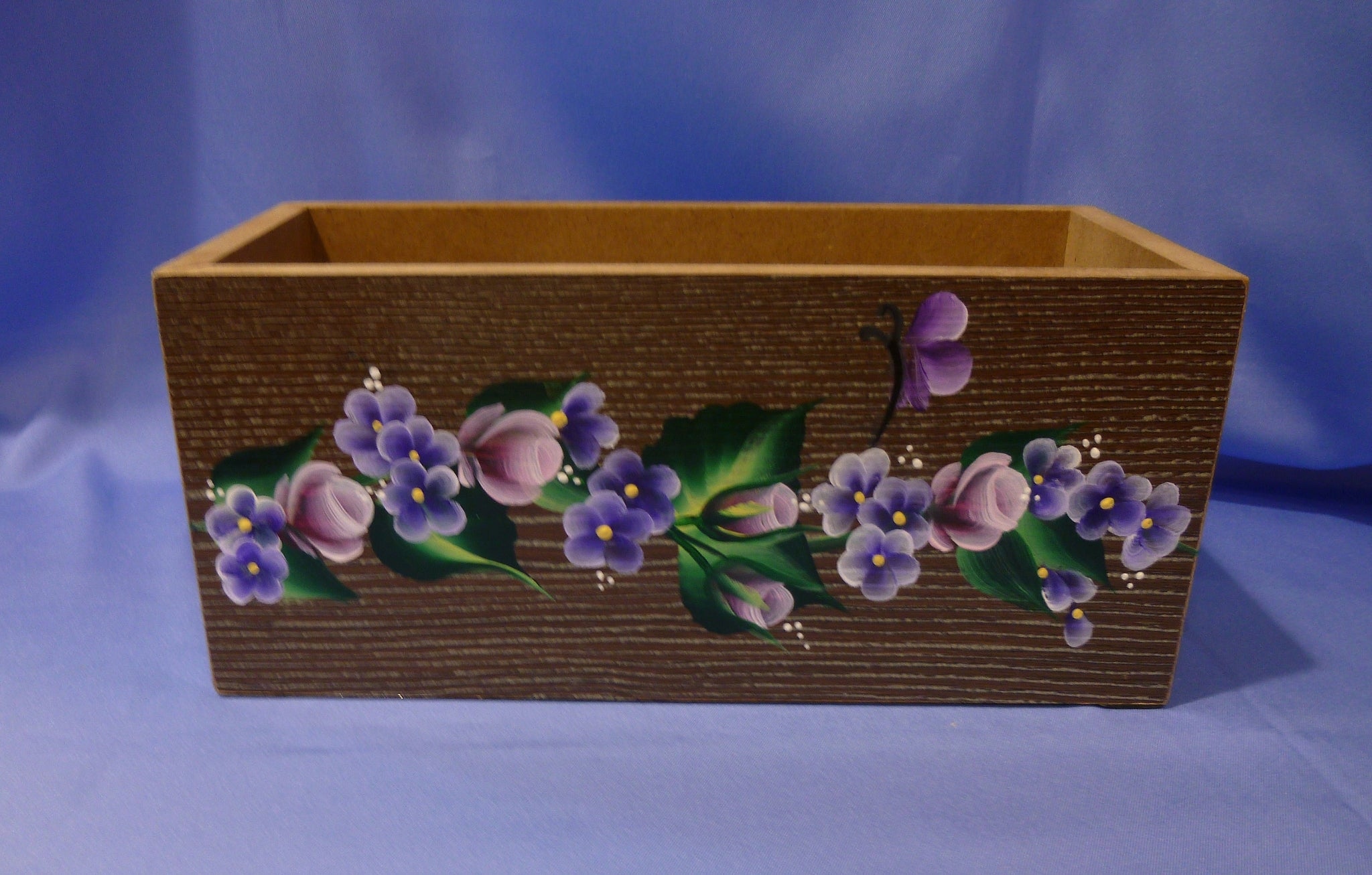 Hand Painted Wood Storage Container