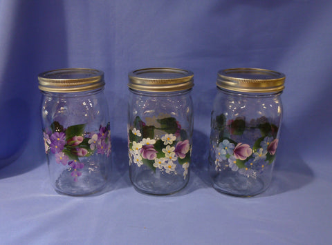 Hand Painted Quart Mason Jar - Series 1