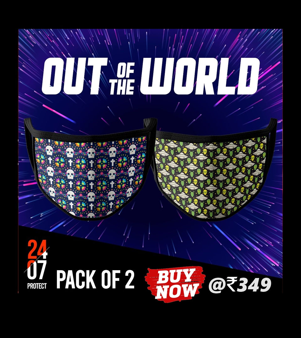 Out Of The World - 6 Layer Face Mask - Pack of 2