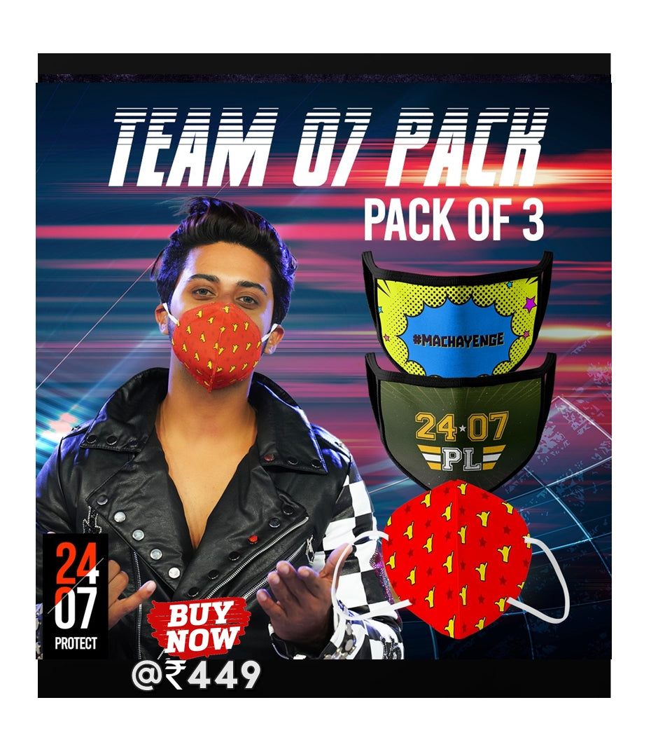 Team 07 - 6 Layer Face Mask - Pack of 3