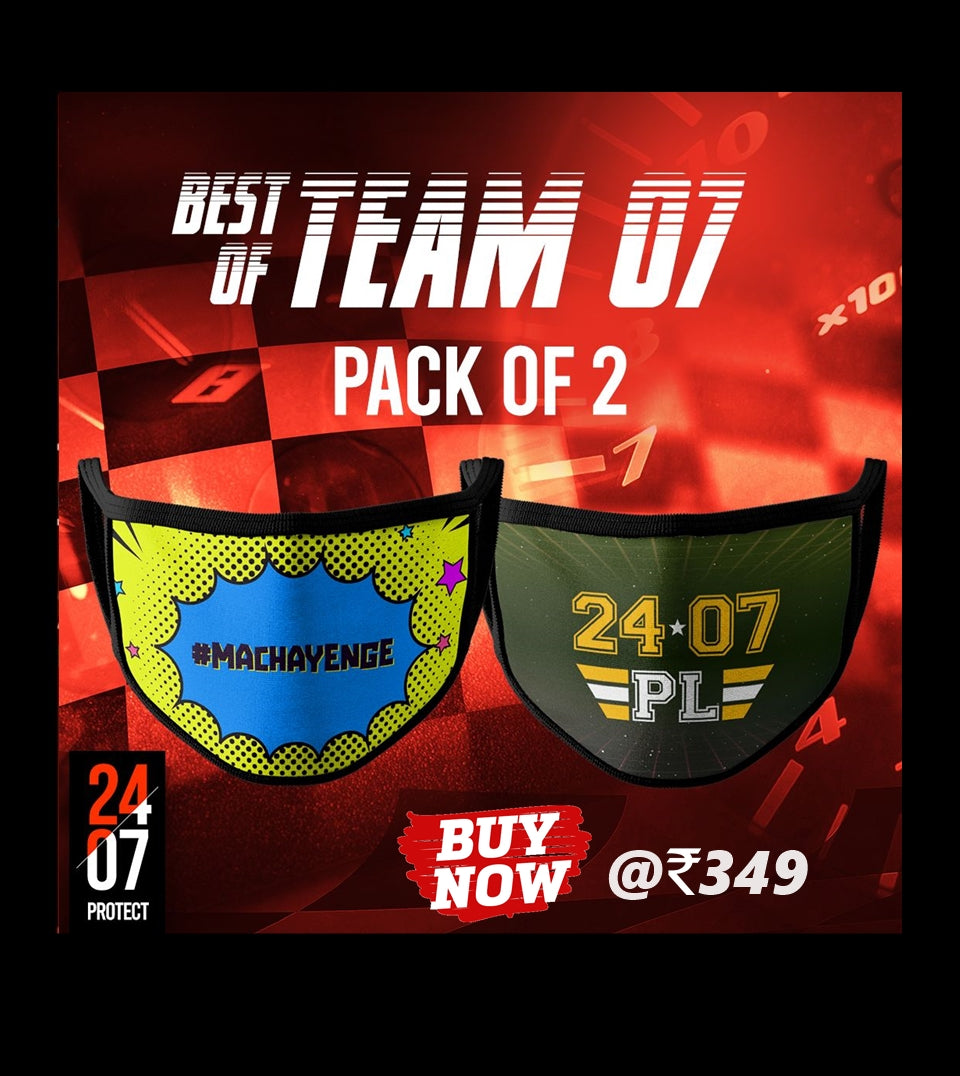 Best Of Team 07 - 6 Layer Face Mask - Pack of 2