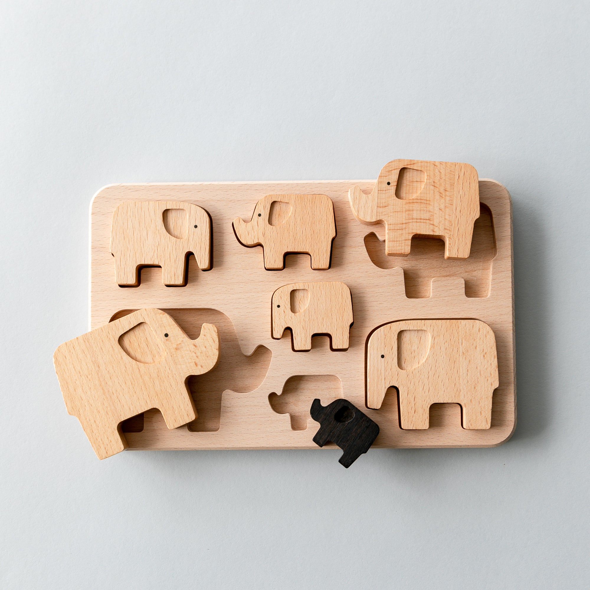 BAJO Wooden Elephant Sorting Puzzle
