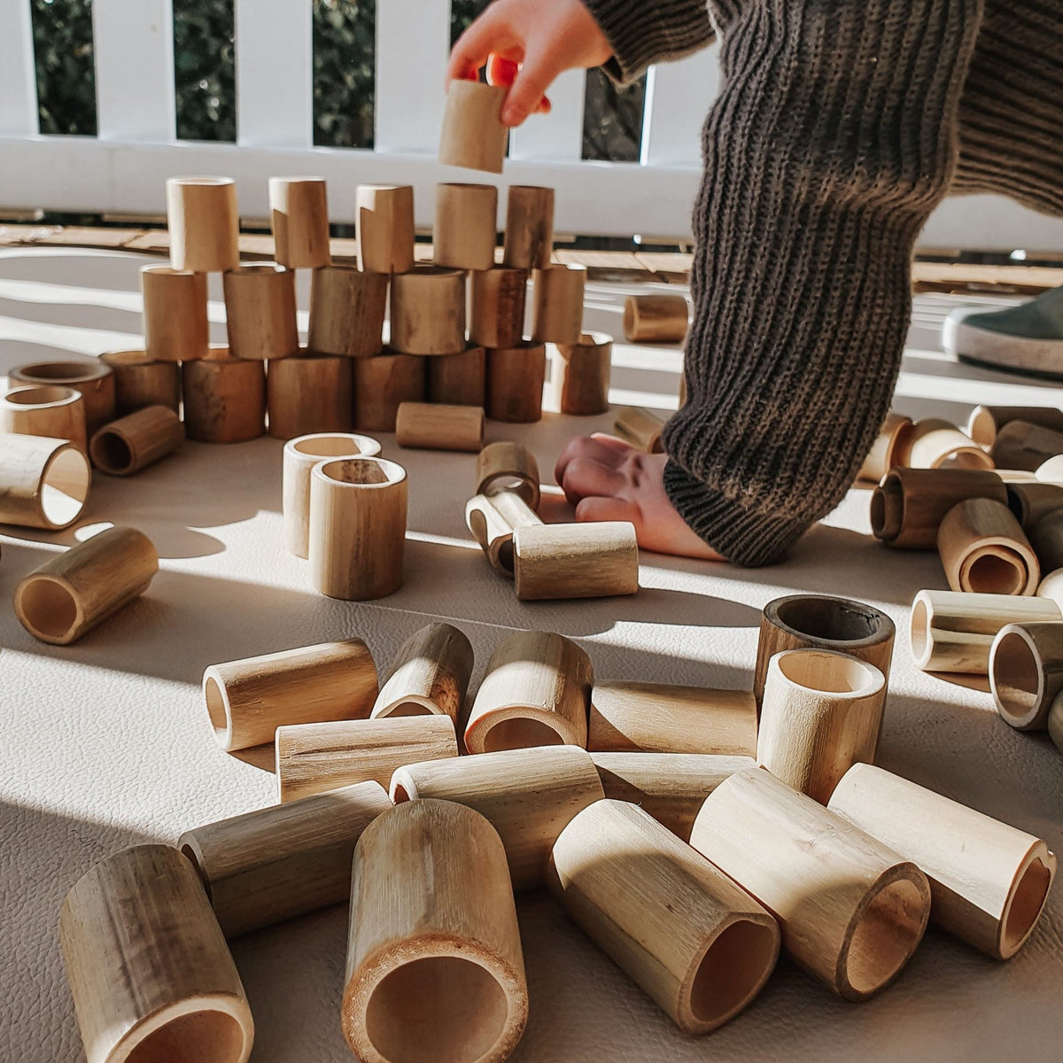 Bamboo Balancing Play set (100 pieces)