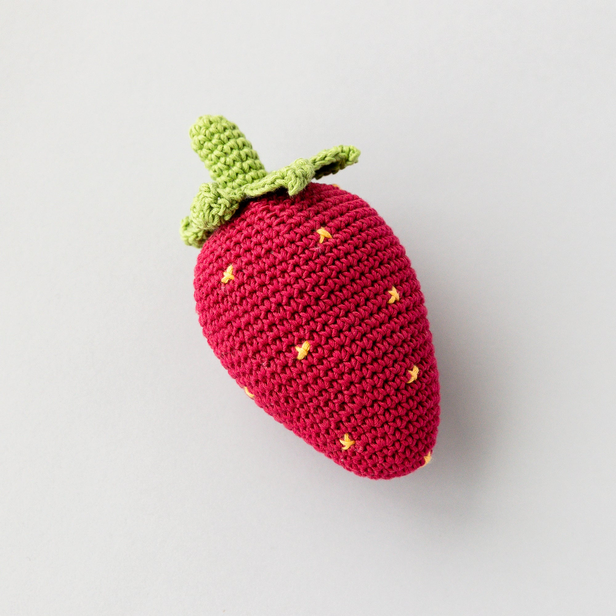 Handmade Strawberry Rattle, Play Food