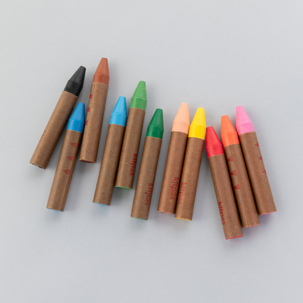 Kitpas Large Art Stick Crayons - 12 colors