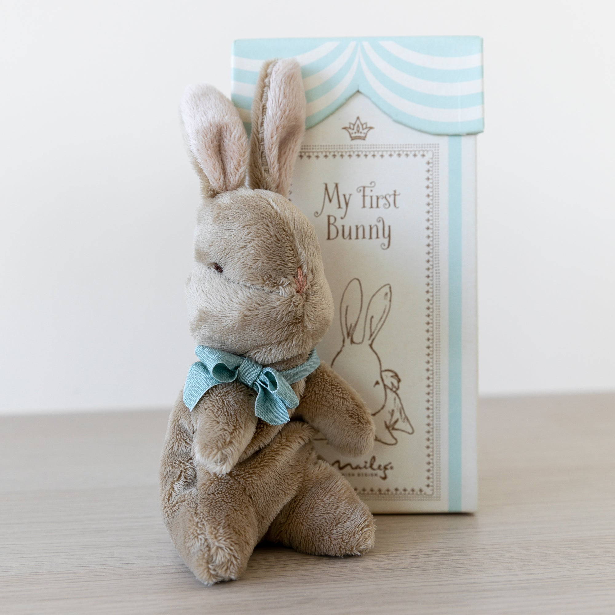 Maileg My First Bunny in Box - Blue