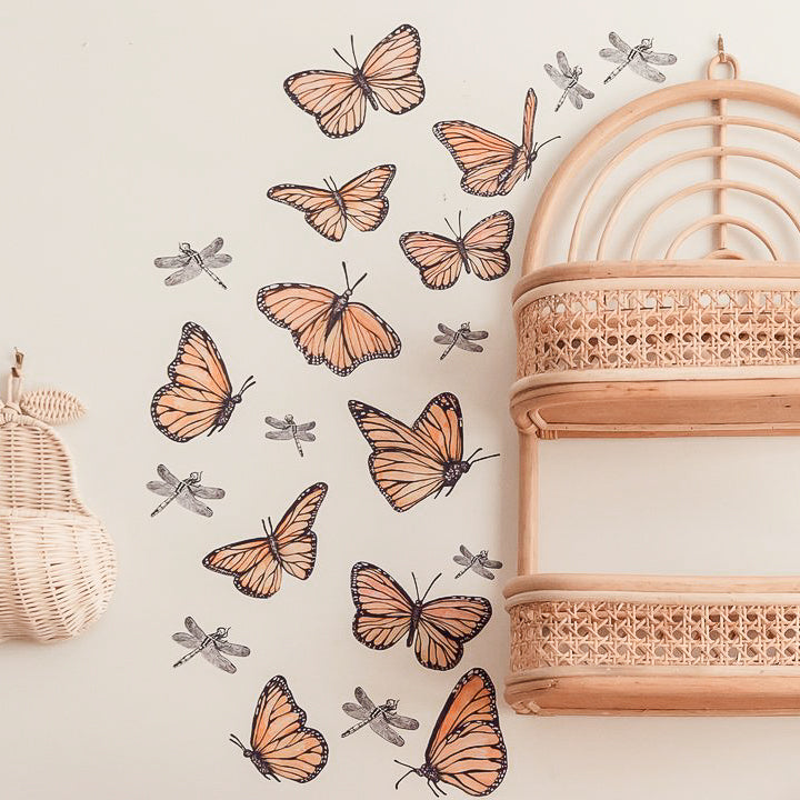 The Butterfly Collection Fabric Wall Decals