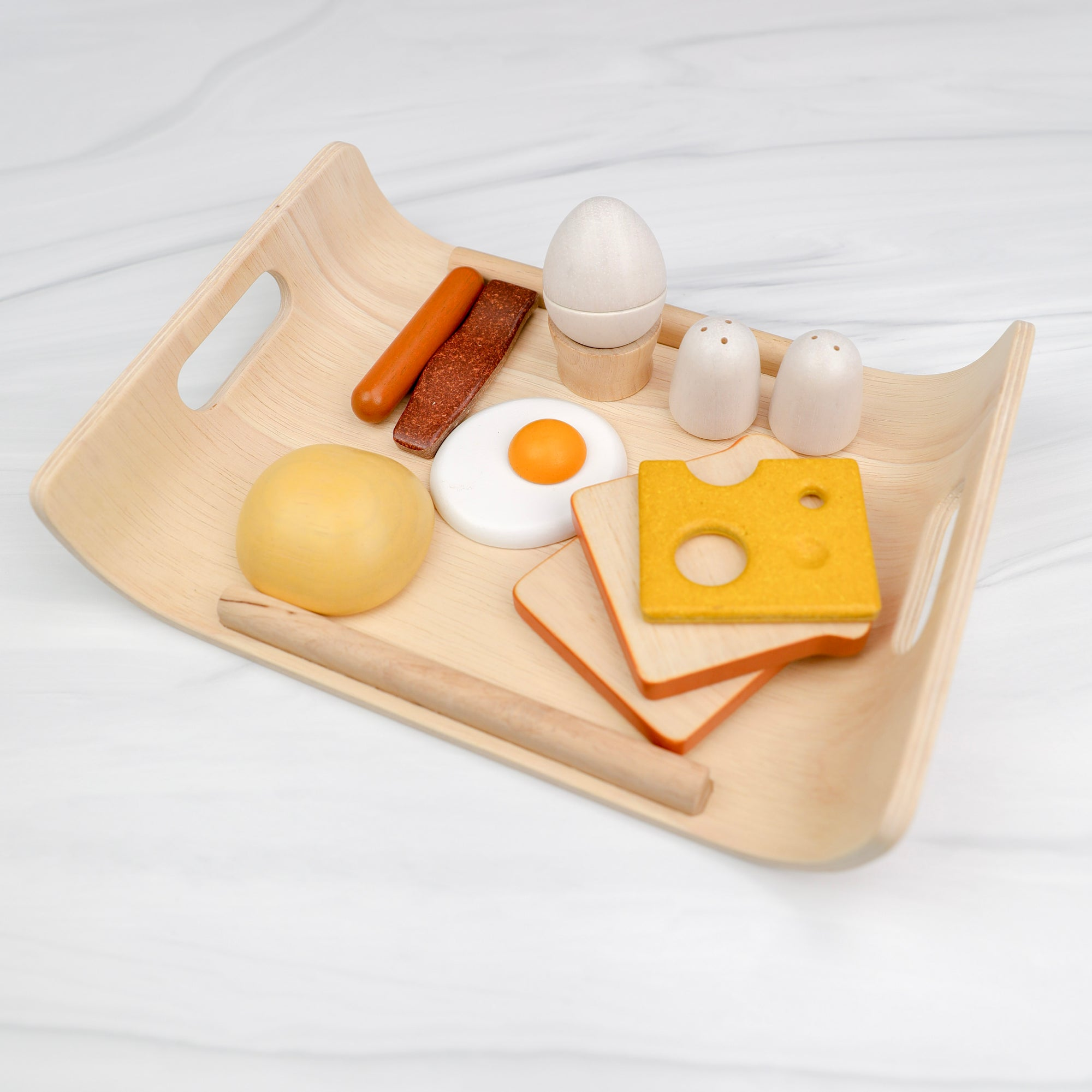 Wooden Breakfast Play Food Set