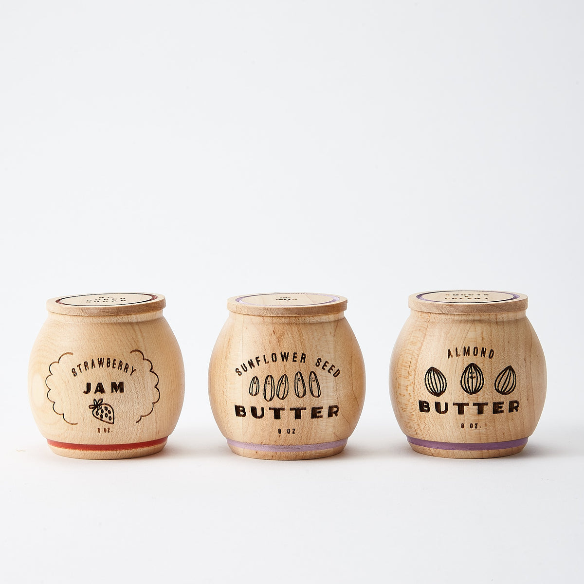 Wooden Jam & Nut Butter Play Food Set 1
