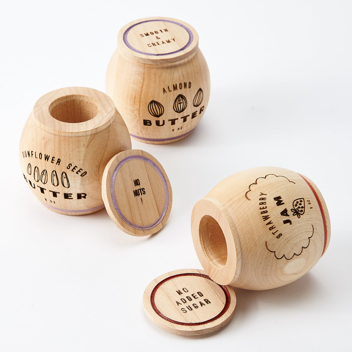 Wooden Jam & Nut Butter Play Food Set