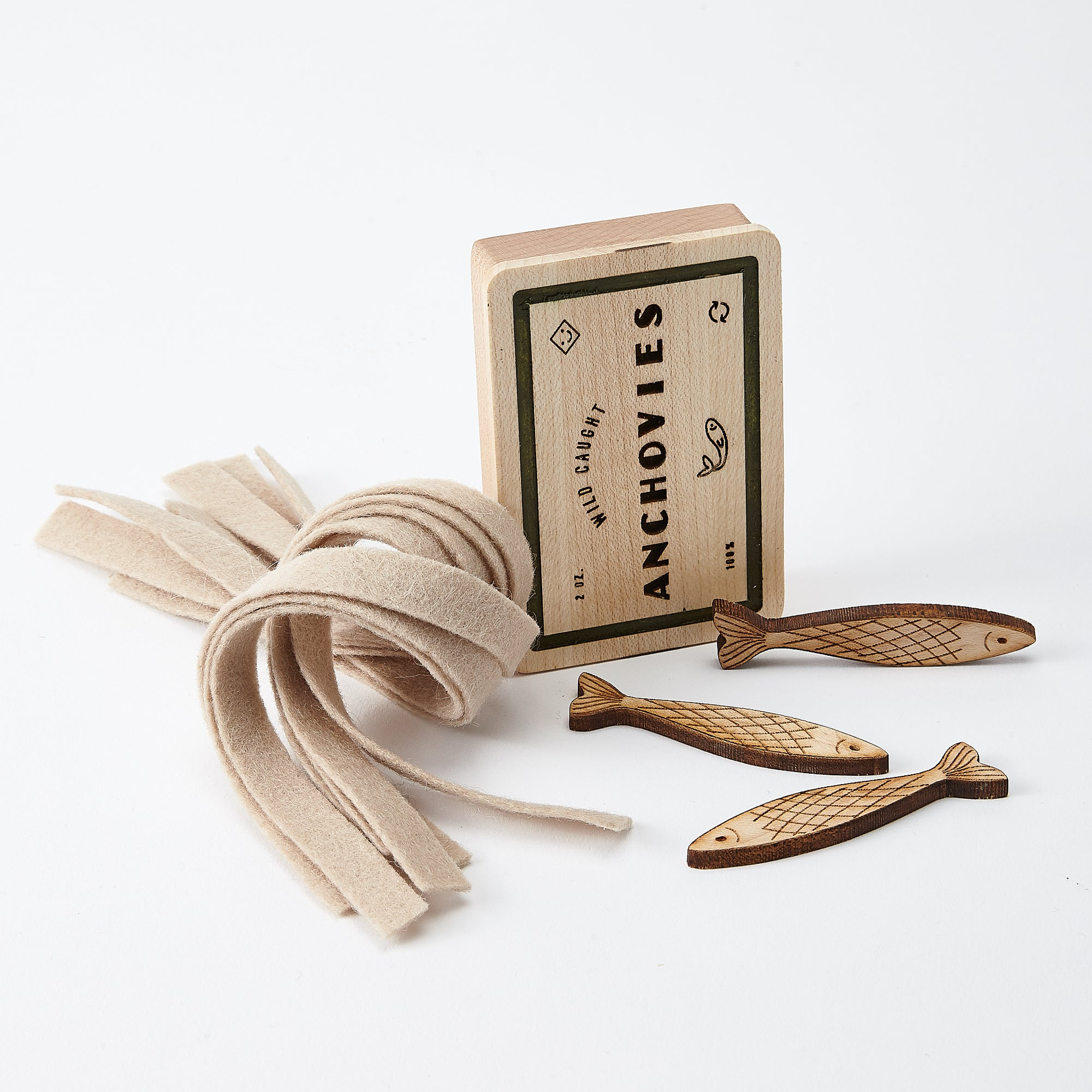 Wooden Pasta Play Food Set