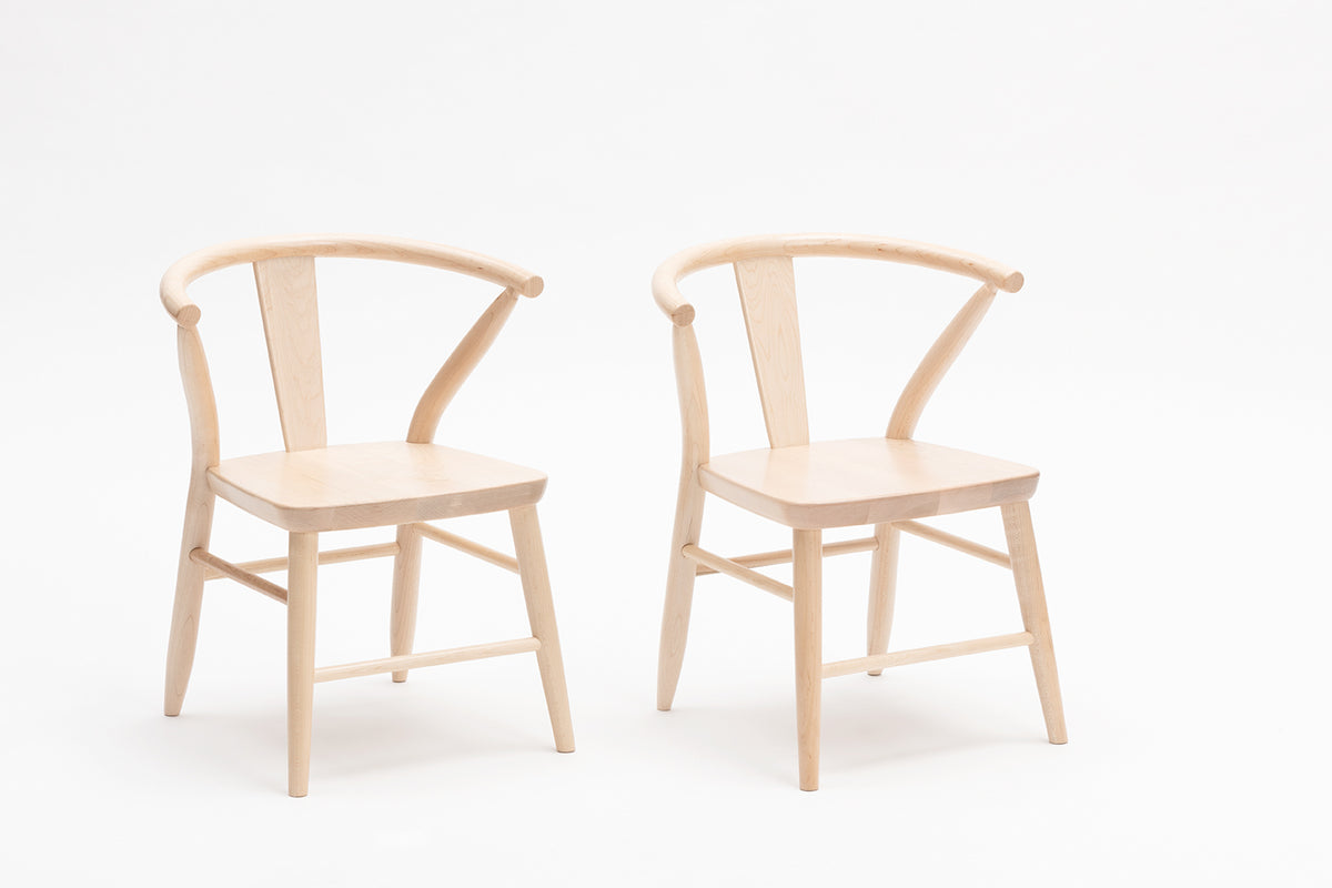 Wooden Play Chairs (Pair) - Natural 1
