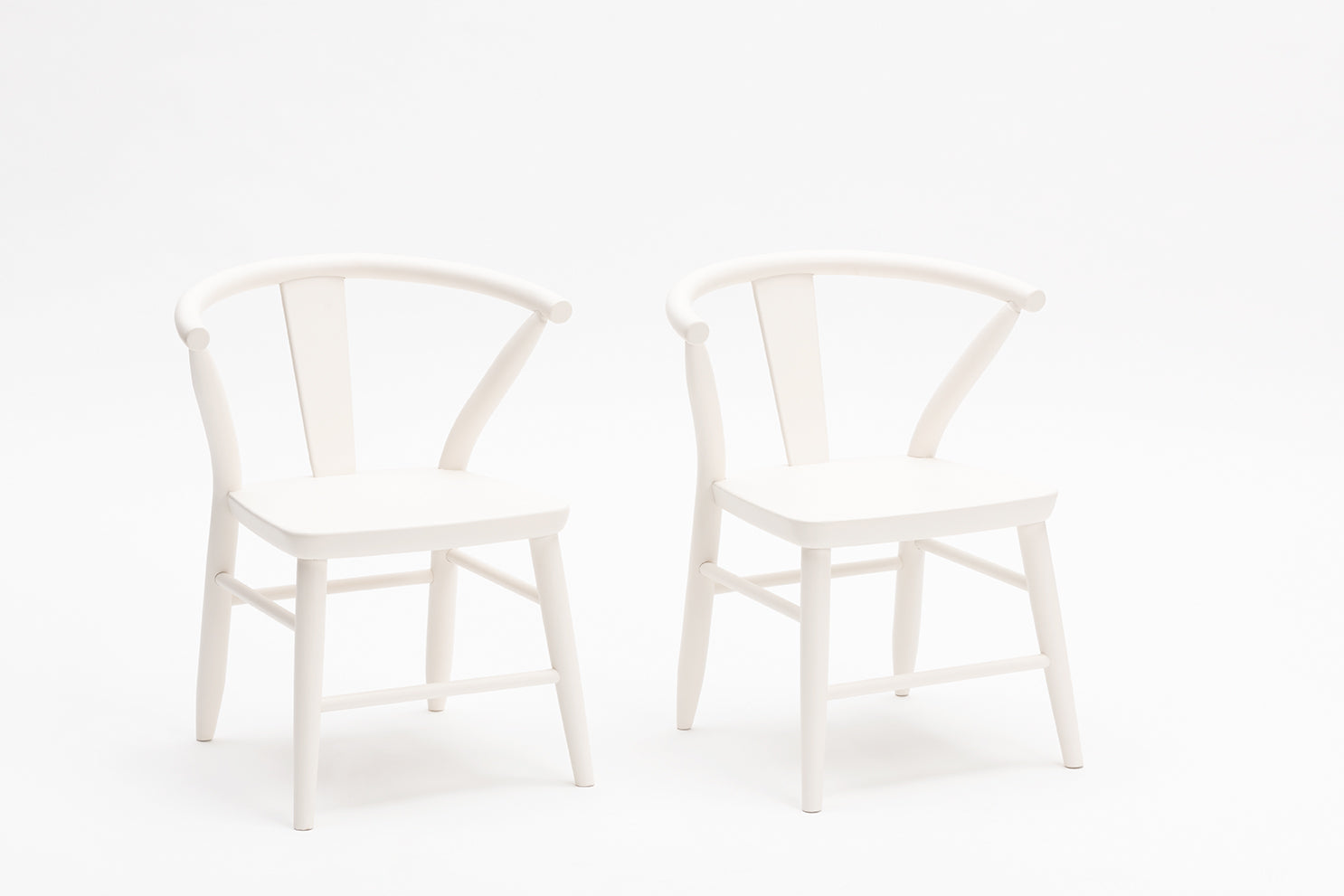 Wooden Play Chairs (Pair) - White 1