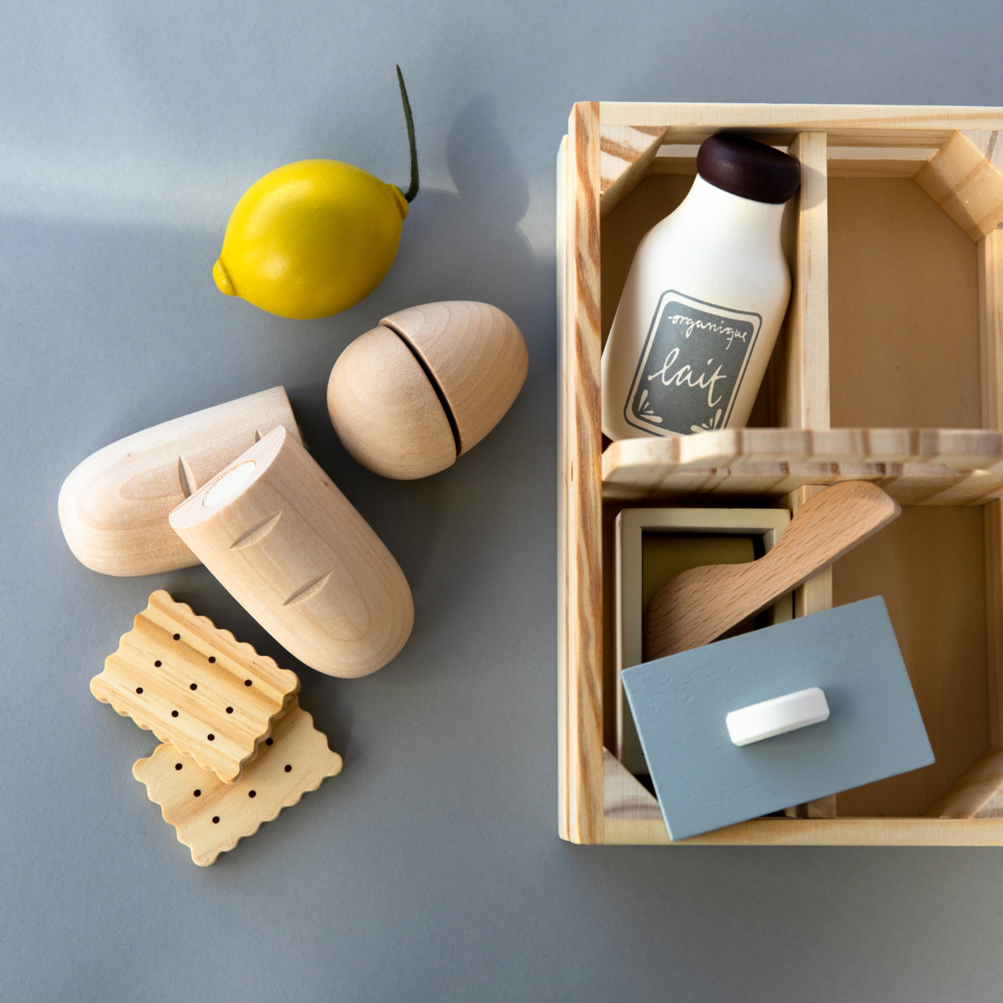 Wooden Play Food Crate