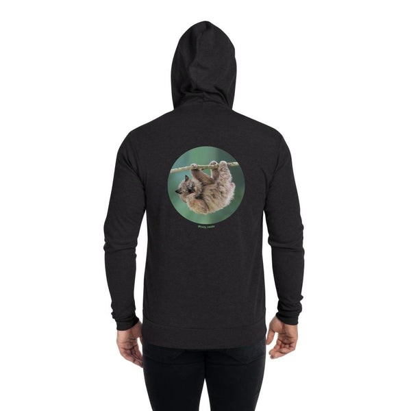 Cat Universe Sloth Zip Up Hoodie