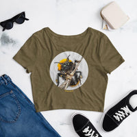 Cat Universe Bee Crop Tee Shirt