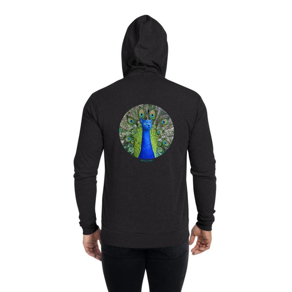 Cat Universe Peacock Zip Up Hoodie
