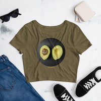 Cat Universe Avocado Crop Tee Shirt