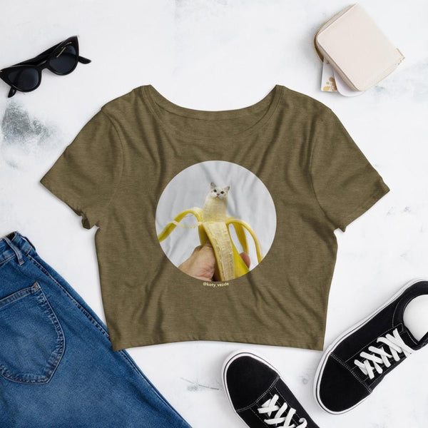 Cat Universe Banana Crop Tee