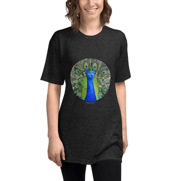 Cat Universe Peacock Long Tee Shirt
