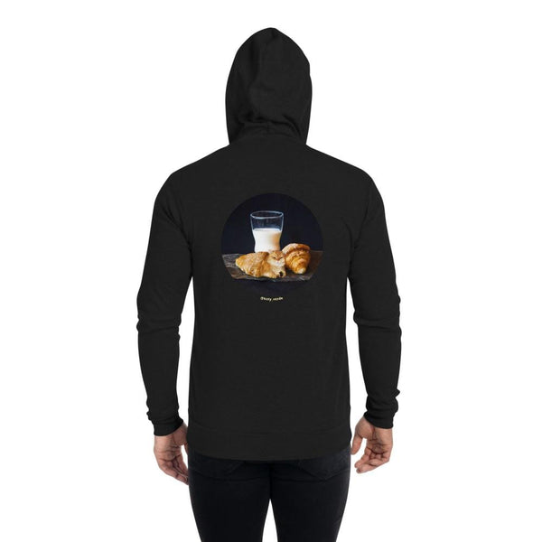 Cat Universe Croissant Zip Up Hoodie