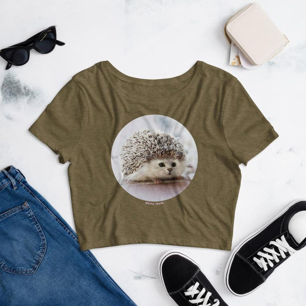 Cat Universe Hedgehog Crop Tee Shirt