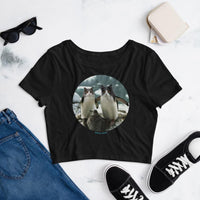 Cat Universe Penguins Crop Tee Shirt