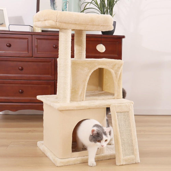 Double Decker Cat Tree (White or Gray)