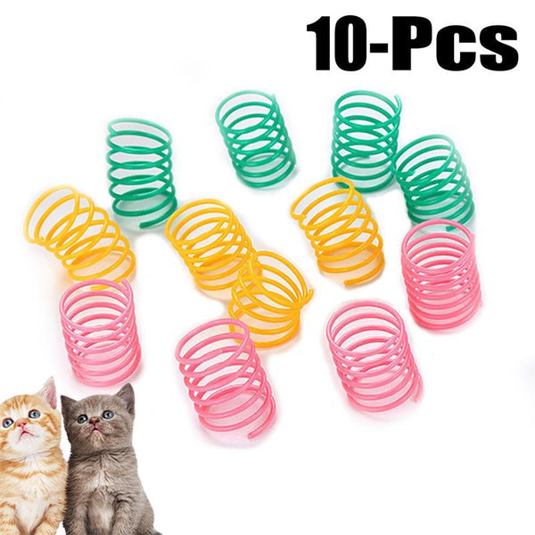 10  Multicolored Spring Toys
