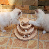 Wooden Ball Cat Track (2 or 3 tier)