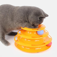 Three Tier Ball Track Cat Game (5 Colors Available!)