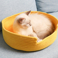 Cozy Cotton Cat Bed
