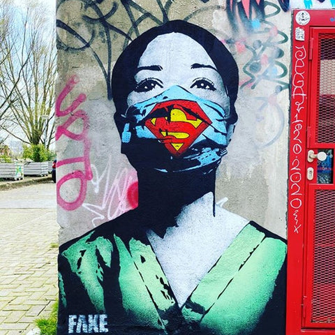 Super Nurse! street art mural