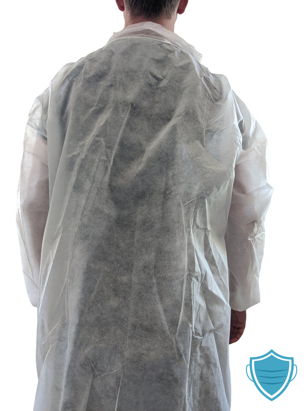 Disposable Poly Lab Coats - (case of 30 units)