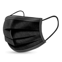 Black 3-Layer Surgical Mask Packs - over 95% Filtration