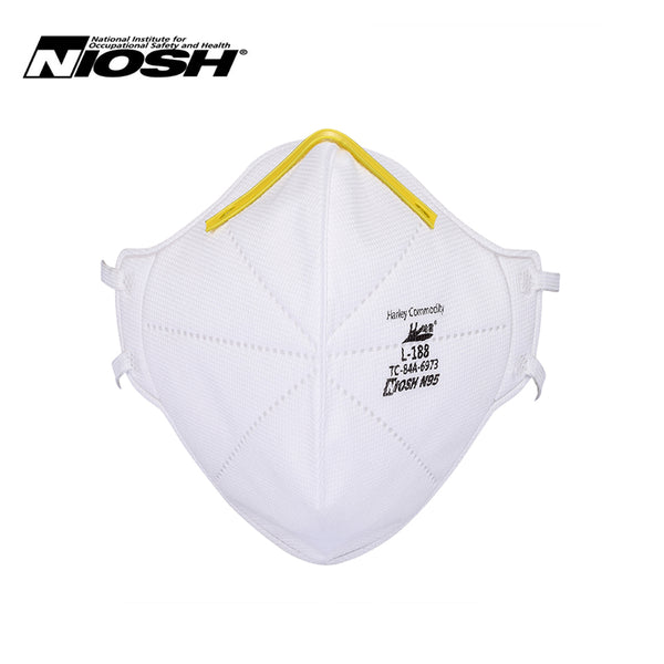Harley N95 Respirator Face Mask - Model L-188 - FOLDABLE - NIOSH Approved