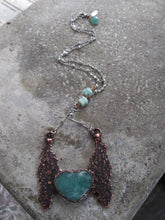 Load image into Gallery viewer, Electroformed Amazonite Heart Necklace