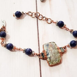 Sodalite Bracelet with Czech Bead Accents