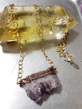 Load image into Gallery viewer, Raw Amethyst on Heart Chain