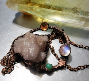 Spirit Quarts with Moonstone, Amazonite & Lemon Quartz