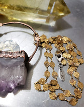 Load image into Gallery viewer, Raw Amethyst & Crystal Crescent Moon