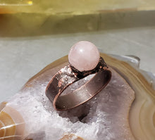 Load image into Gallery viewer, Rose Quartz Ball Ring